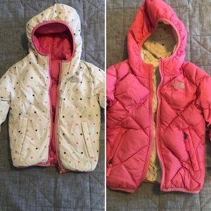 TODDLER GIRL NORTH FACE REVERSIBLE PUFFER - 3T/4T